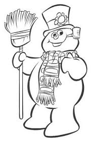 snowman colouring picture printable kids coloring pages