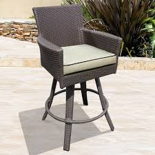 Outdoor Swivel Bar Stool Malibu Swivel Bar Stool