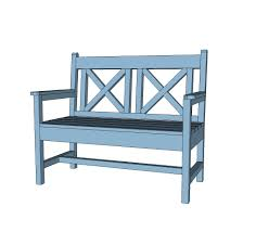 Free Plans For Garden Furniture by Ana White Woven Back Bench Diy Projects