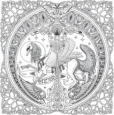 advanced mandala coloring pages celtic mandala on pinterest