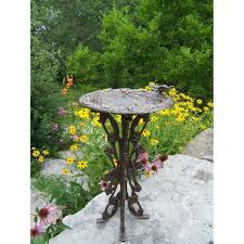 Butterfly Patio Furniture by Oakland Living Butterfly Dragonfly Bird Bath Antique Bronze
