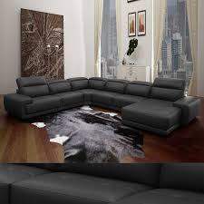 couch u form echt leder wohnlandschaft nelson sofa in u form und verstellbaren