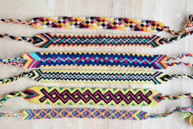 friendship bracelet rainbow images Natural bracelets of friendship in a row colorful woven jpg