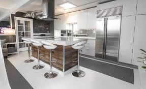 stools modern grey stained kitchen cabinets amazing light