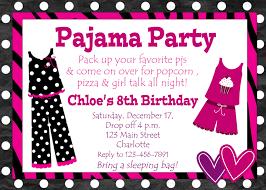 Stunning Appearance Pajama Party Invitations Plumegiant Com