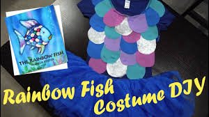 rainbow fish book week costume diy