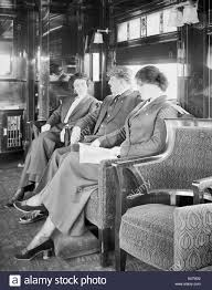 Trains In America Passengers In The Observation Car On A Deluxe Overland Limited
