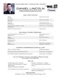 Pianist Resume Sample by Music Resume Resume Cv Cover Letter