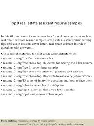 Realtor Resume Sample by Top8realestateassistantresumesamples 150426011438 Conversion Gate01 Thumbnail 4 Jpg Cb U003d1430028923