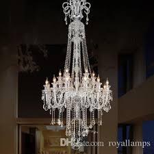 Foyer Lighting Modern 205cm Long Big Chandelier E14 Led Lamps Modern Large Luxury