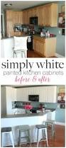 Diy How To Paint Kitchen Cabinets Painted Kitchen Cabinets With Benjamin Moore Simply White