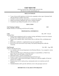Sous Chef Resume Resume Examples For Cooks Resume Example And Free Resume Maker