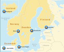 map of europe scandinavia scandinavia map toursmaps