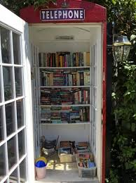 london phone booth bookcase an old london phone booth is converted into a little free library
