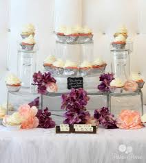 princess bridal shower cupcake glass castle display by