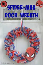 how to make a spider man wreath diy building our story