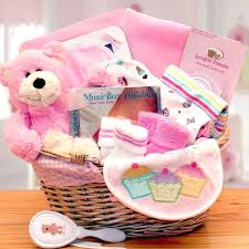 baby basket gift organic new baby girl gift baskets
