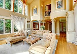 Decorating Ideas For Living Rooms With High Ceilings High Ceiling Living Room Paint Ideas Light Color The