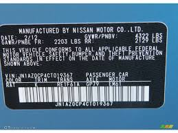 nissan leaf vin decoder 2012 nissan leaf sl color code photos gtcarlot com