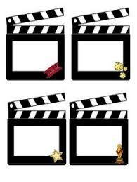 hollywood photo booth layout pin by muse printables on page borders and border clip art