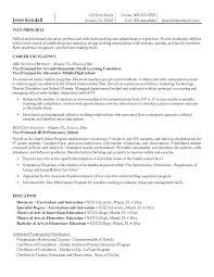 Entry Level Resume Templates Free Principal Resume Sample Entry Level Assistant Principal