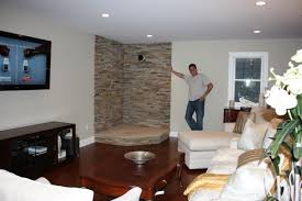 stone wall living room capitangeneral