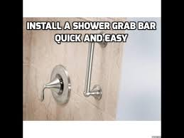 How To Install Bathtub Grab Bars How To Install Shower Grab Bars Quick And Easy Youtube