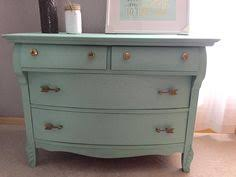 i painted them seaside villa by valspar and i love this color one