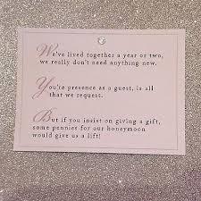 wedding gift list poems wedding invitation wording no gifts but money wedding