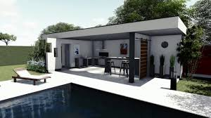 pool house plan de jardin 3d piscine pool house youtube