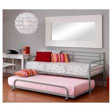 Metal Daybed With Trundle Trundle For Metal Day Bed Silver Dorel Home Products Target