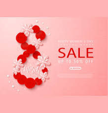 s day sales march happy women s day sale banner beautiful vector image