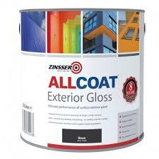 Black Exterior Gloss Paint - zinsser allcoat exterior gloss rawlins paints
