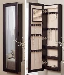 jewelry box wall mounted cabinet jewelry box hanging elegant mirrored jewelry cabinet armoire