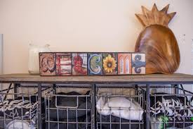 Rustic Country Home Decor Welcome Color Photo Sign Country Welcome Sign Letter