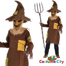 Scary Scarecrow Costume Boys Scary Scarecrow Costume Evil Halloween Horror Fancy Dress
