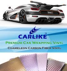car wrapping paper carlike stretchable 3d chameleon carbon fiber vinyl car wrap paper