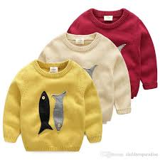 fish sweater baby fish sweater 2017 autumn and winter version of the