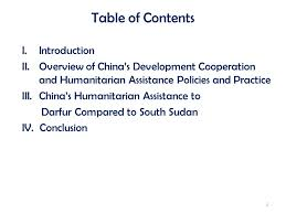 evolution of chinas humanitarian assistance from the darfur