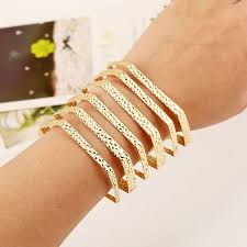 bracelet style vintage images New arrival fashion punky style hollow open cuff retro big gold jpg