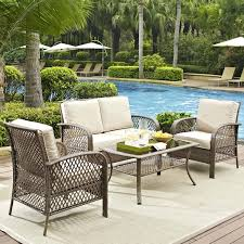 4 Piece Wicker Patio Furniture - amazon com tribeca 4 piece deep seating group outdoor patio