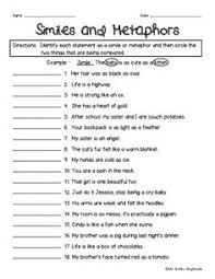 15 best images of printable simile worksheets similes and