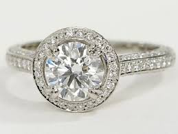 platinum vintage rings images Vintage halo pave engagement ring in platinum engagement ring wall png