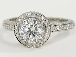 vintage halo engagement rings vintage halo pave engagement ring in platinum engagement ring wall