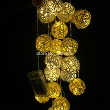 aliexpress com buy 20 set handmade rattan ball string lights