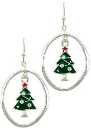 christmas earrings christmas tree fish hook dangle earrings 123stitch