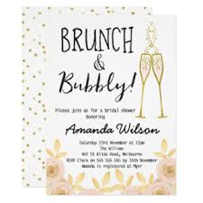 chagne brunch invitations bubbly brunch bridal shower gifts on zazzle