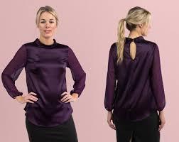 purple silk blouse power silk blouse plum