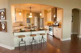 kitchen with island and peninsula kitchen peninsula with seating layout design small ideas plans on