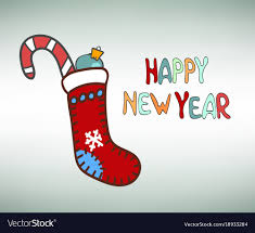 new years socks happy new year socks royalty free vector image